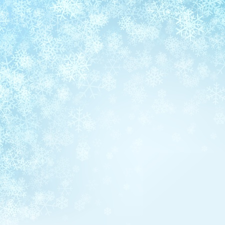 Christmas background snowflakes and light Stock Vector - 11324254
