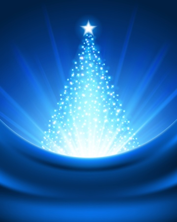 christmas trees: Christmas tree from light background Illustration