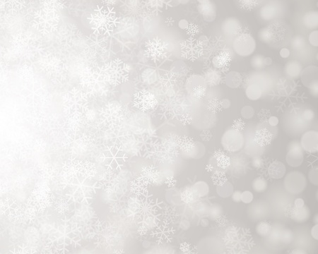 lens flare: Christmas background snowflakes and light