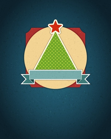 Christmas tree applique background Vector
