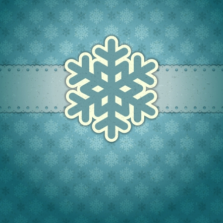 christmas backdrop: Christmas background with snowflakes Illustration