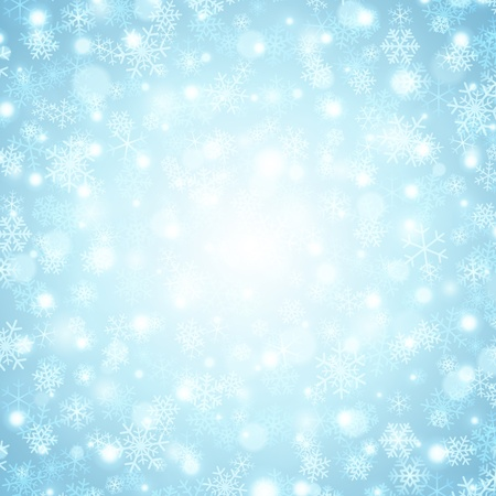 Christmas background snowflakes and light Stock Vector - 11324287