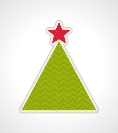 Christmas applique with tree background Stock Vector - 11324243