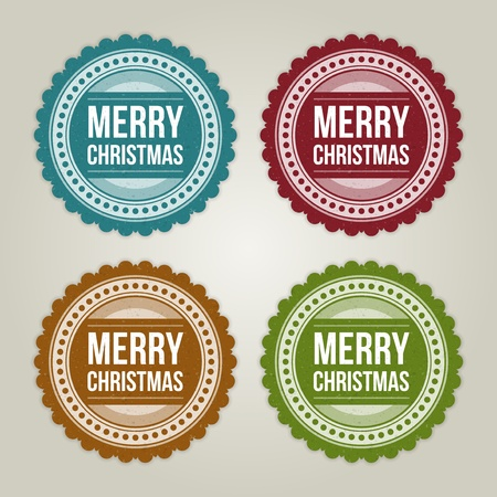 Christmas labels set illustration Stock Vector - 11324283