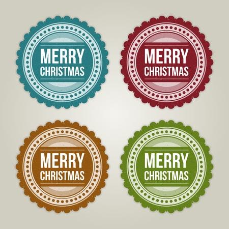 Christmas labels set illustration Stock Vector - 11324283