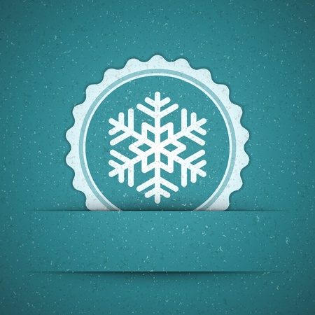 Christmas snowflake applique background Stock Vector - 11324330