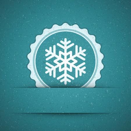 Christmas snowflake applique background Stock Vector - 11324330