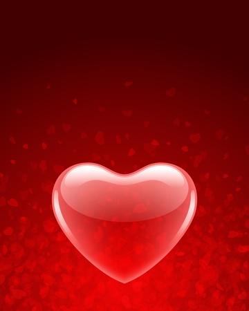 palloncino cuore: Trasparente palloncino cuore rosso