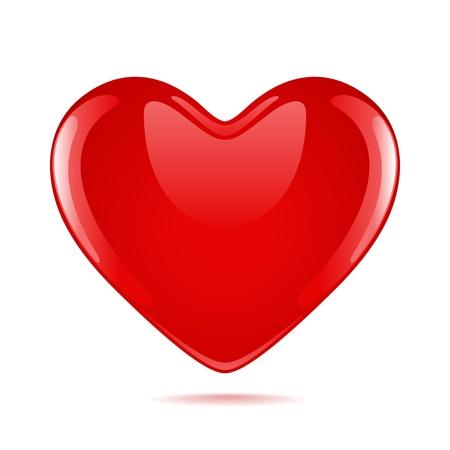 Red heart illustration Vector