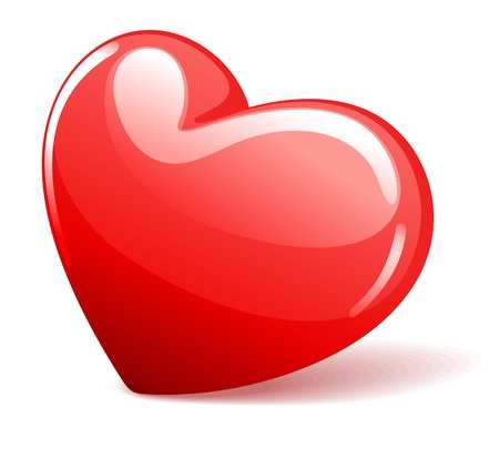 Red heart illustration Vector