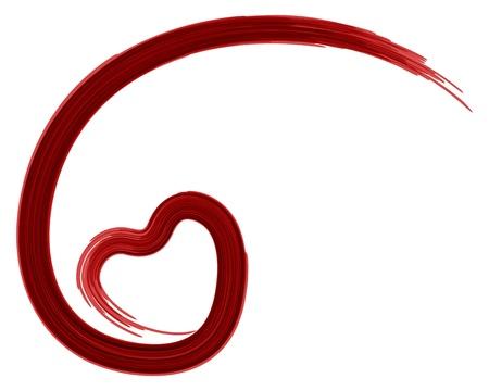 curare teneramente: Dipinto a forma di cuore di San Valentino giorno sfondo