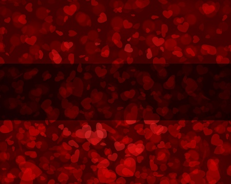 Flying hearts Valentine day background Vector