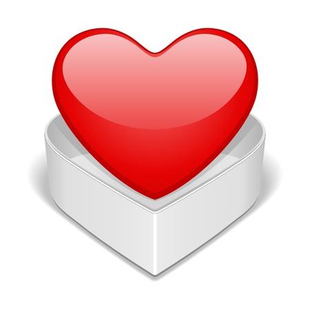 corazon rosa: A coraz�n abierto regalo de San Valent�n d�a de ilustraci�n vectorial Vectores