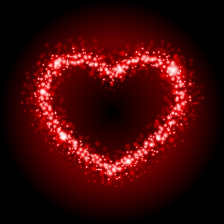 Valentine day card heart frame vector background  Vector