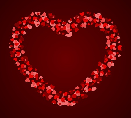 Hearts Valentine day vector background  Stock Vector - 11895295