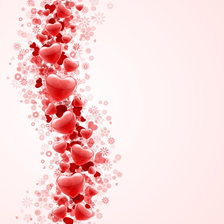 stylish couple: Hearts Valentine day or Wedding vector background