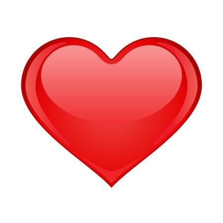 shiny hearts: Red heart vector illustration