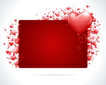 Valentine day or Wedding vector background card with hearts Vector