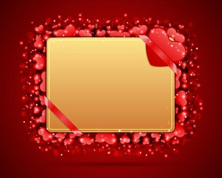 Valentinstag-Karte mit Herz Vektor-Hintergrund