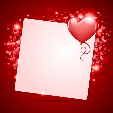 Valentine day vector background with hearts  Vector