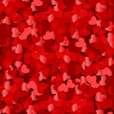 Rode harten confetti Valentijn of bruiloft vector achtergrond