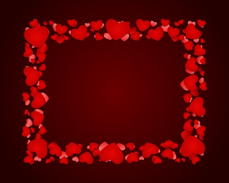 Hearts Valentine day vector background  Stock Vector - 11895525