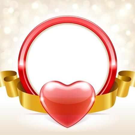Valentinstag Vektor Hintergrund mit Herz und Licht Standard-Bild - 11895631