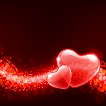 Valentine day vector background with abstract hearts Stock Vector - 11895635