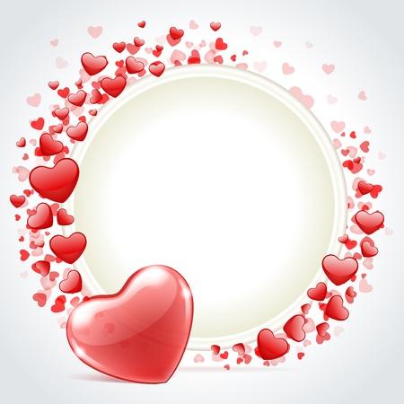corazon rosa: D�a de San Valent�n de vectores de fondo con el coraz�n Vectores