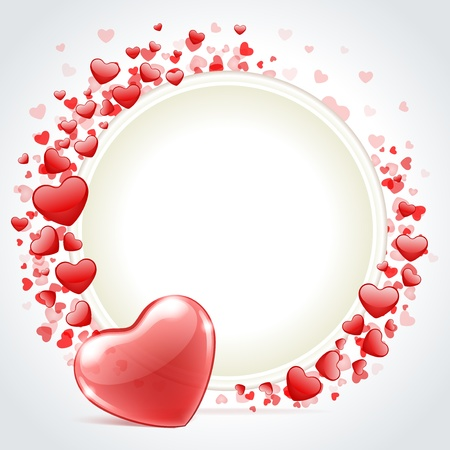 Valentine day vector background with heart  Vector