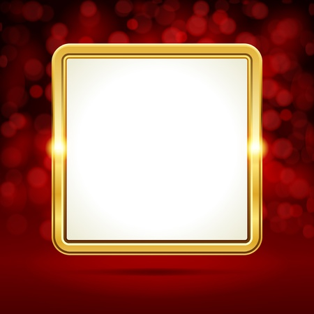 Celebration gold frame vector background and light  Vector