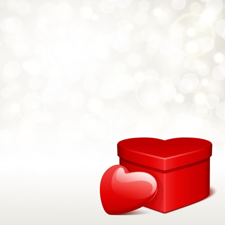 Valentine day vector background with heart and light  Vector