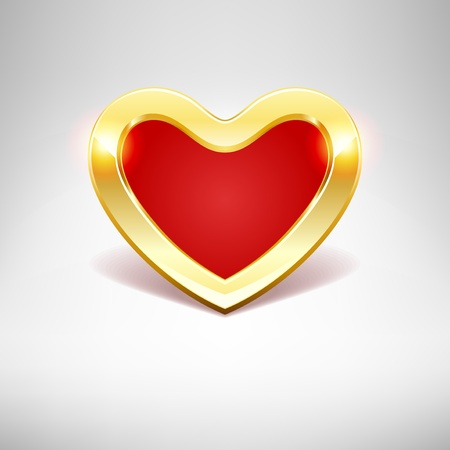 Gold heart Valentine day vector background Vector