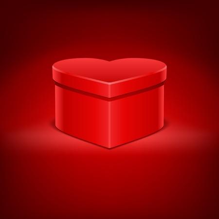 Heart gift present Valentine day vector background  Vector