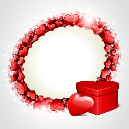 Valentine day vector background with gift  Vector