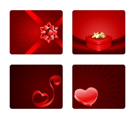 Valentines day banners or backgrounds set  Vector