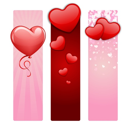Valentines day banners set Vector