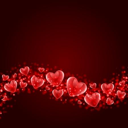 발렌타인 데이 또는 결혼식 벡터 배경 일러스트