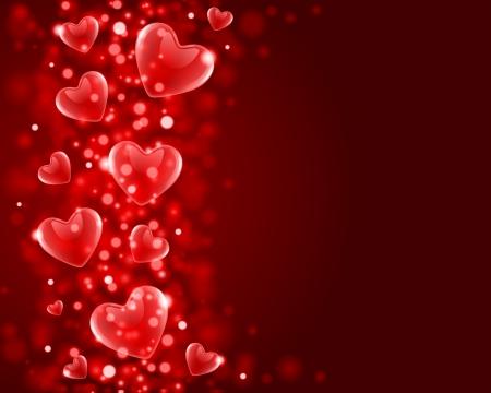 Valentijnsdag of bruiloft vector achtergrond met hartjes