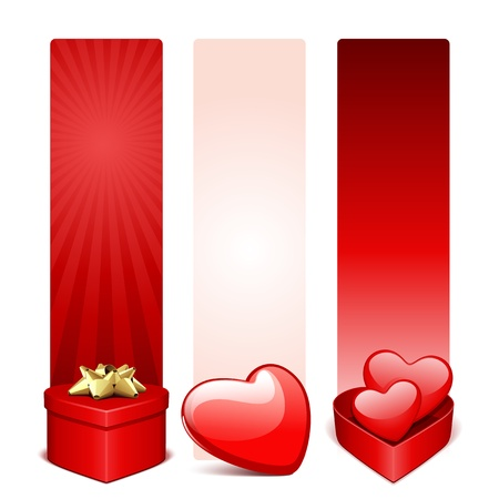 Valentines day banners or headers set  Vector