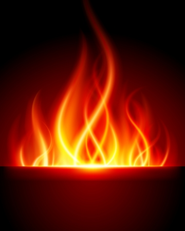 igniting: Burn flame fire vector background Illustration
