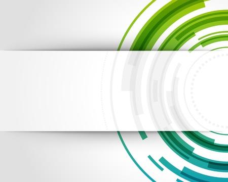 Résumé vecteur de fond la technologie des cercles avec papier découpé et de l'ombre Banque d'images - 12018803