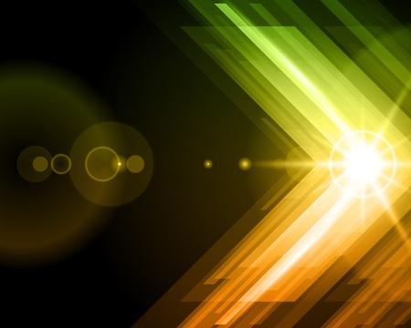 Abstraktní 3d technologické linky s light vector pozadí Reklamní fotografie - 12019000