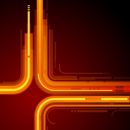 Abstract retro technology lines vector background Vector