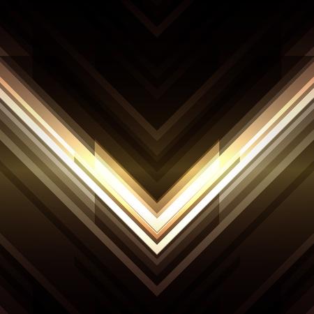 Resumen líneas de tecnología 3D con la luz de fondo vector Ilustración de vector