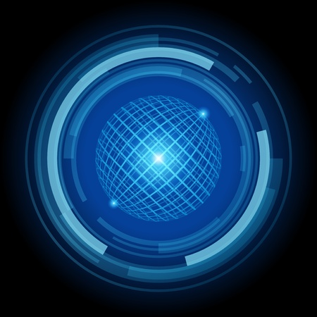 bends: Abstract technology circles vector background
