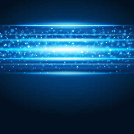 Smooth technology light lines vector background Vector