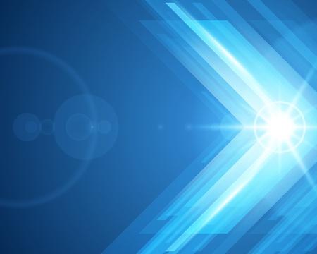 抽象的な 3 d テクノロジー ライン光ベクトルの背景