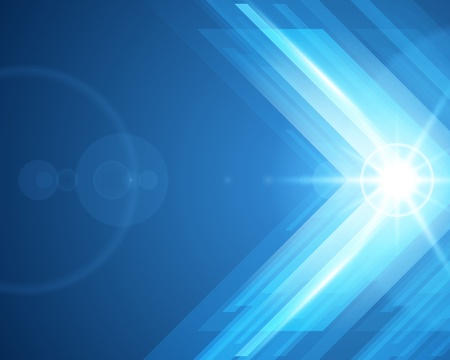 Abstract 3d technology lines with light vector background Vector
