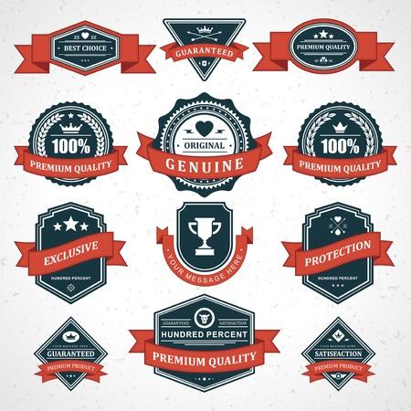 guarantee seal: Vintage etiquetas y la cinta de estilo retro elementos vectoriales Escenograf�a